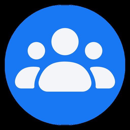 Diseño de icono plano de personas Transparent PNG