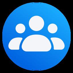 Design plano do ícone de pessoas