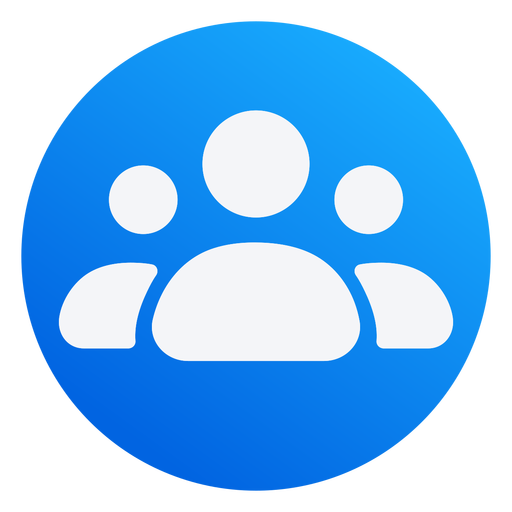People icon flat design