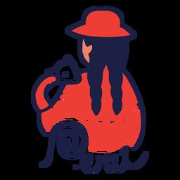 Diseño de mujer andina de Perú
