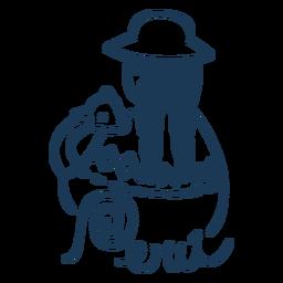 Peru andean woman design silhouette