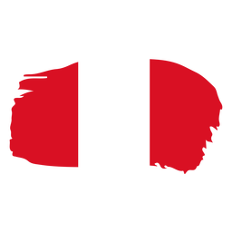 Desenho da bandeira em pincel do Peru