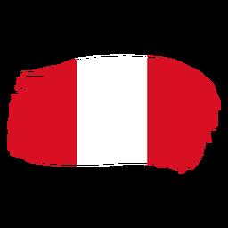 Diseño de bandera de Perú brushy