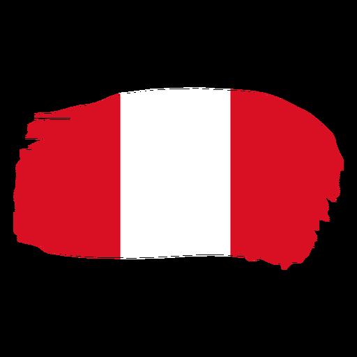 Diseño de bandera de Perú brushy Transparent PNG