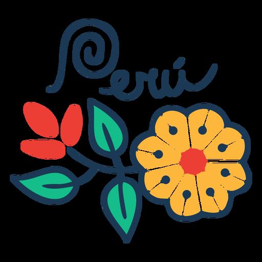 Peru flowerty country design