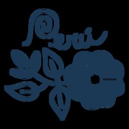 Diseño de silueta de país de flowerty de Perú