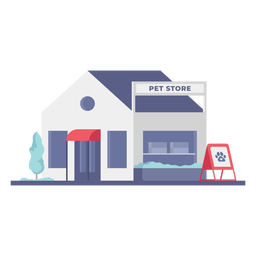 Pet store building store flat