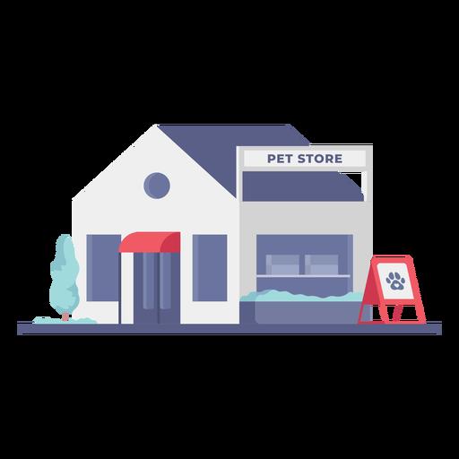 Pet store building store flat Transparent PNG