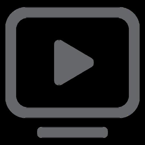 Play rectangle icon