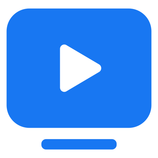 Play rectangle icon design