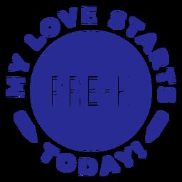 Pre k rounded love design