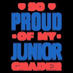 Orgulho da citação do aluno do primeiro ano