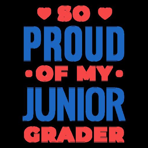 Orgulloso de la cita del alumno de grado junior