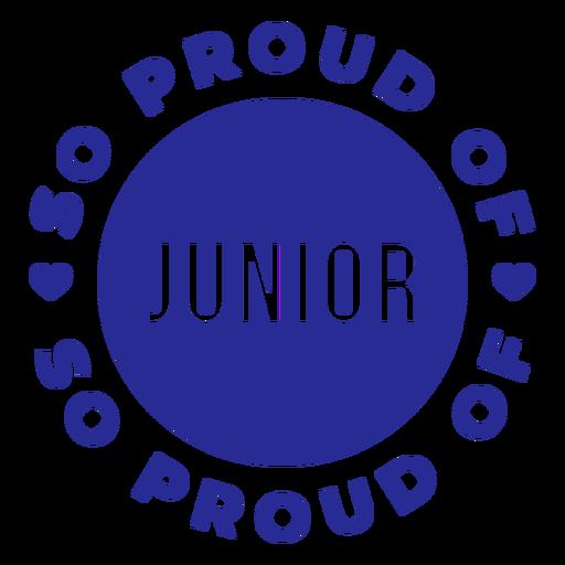 Orgulloso de mis letras junior