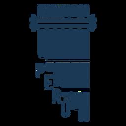 Projeto da silhueta do instrumento quia peru