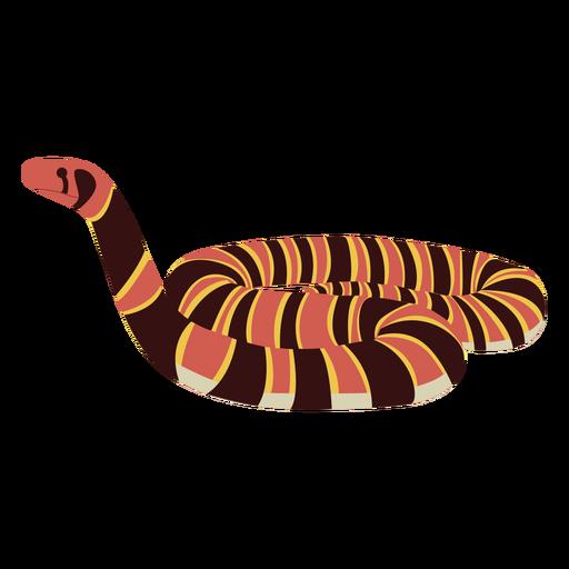 Animal serpiente de cascabel plana