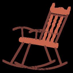 Diseño de ilustración de mecedora