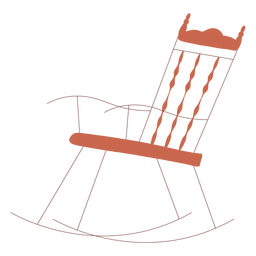 Rocking chair illustration design