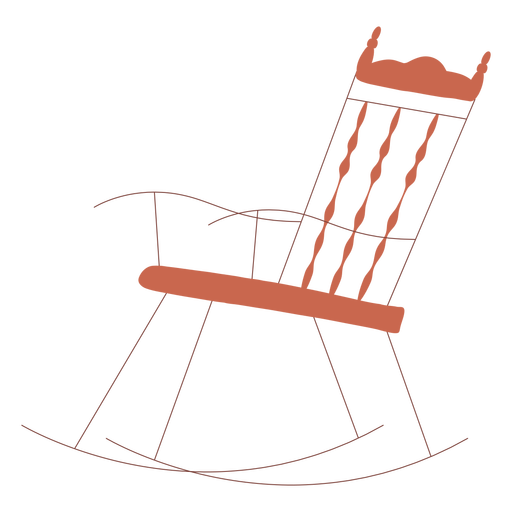 Rocking chair illustration design Transparent PNG