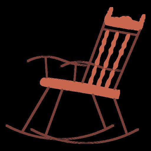 Rocking chair illustration design