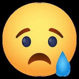 Tristemente emoji icono