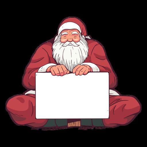 Ilustração do quadro de férias do Papai Noel