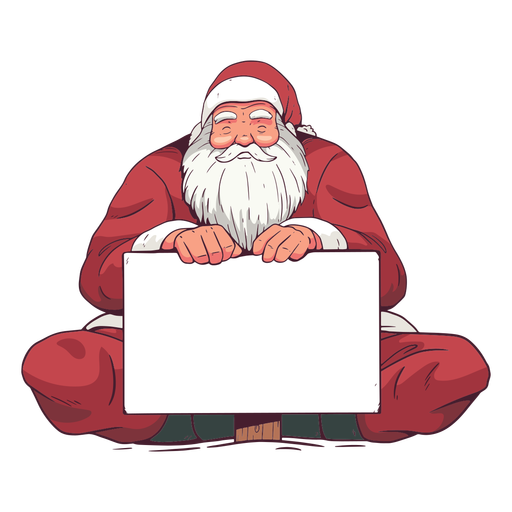 Santa claus holiday board illustration