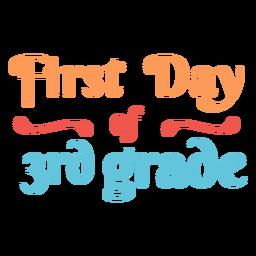 School 3rd grade colorful design