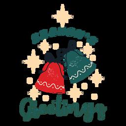 Insignia de campanas de saludo de temporada