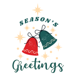 Season's greeting bells badge
