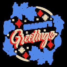 Season's greeting mistletoe design