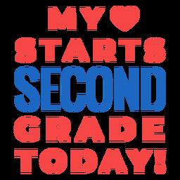Letras de regreso a la escuela de segundo grado