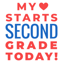 Second grade back to school lettering