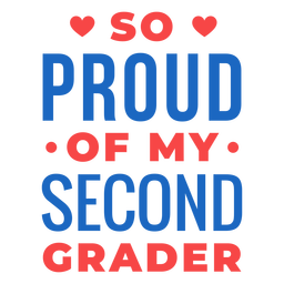 Letras orgullosas de segundo grado