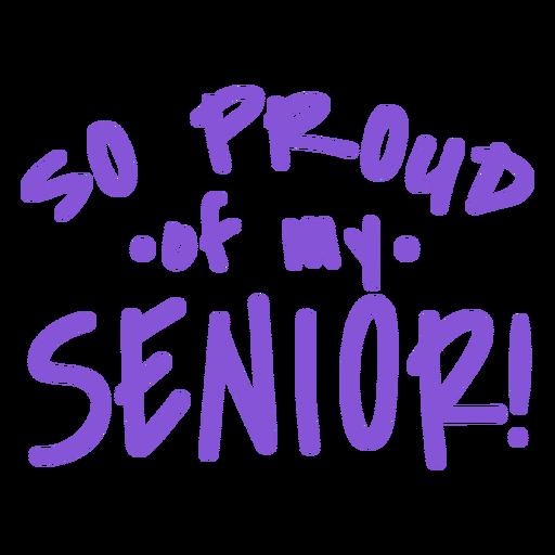 Cita orgullosa senior