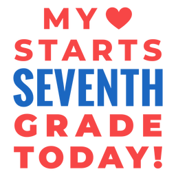 Seventh grade back to school lettering