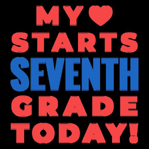 Letras de regreso a la escuela de séptimo grado