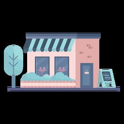 Edificio de tienda plano