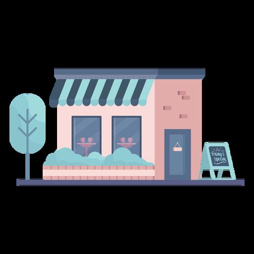 Edificio de tienda plano Transparent PNG