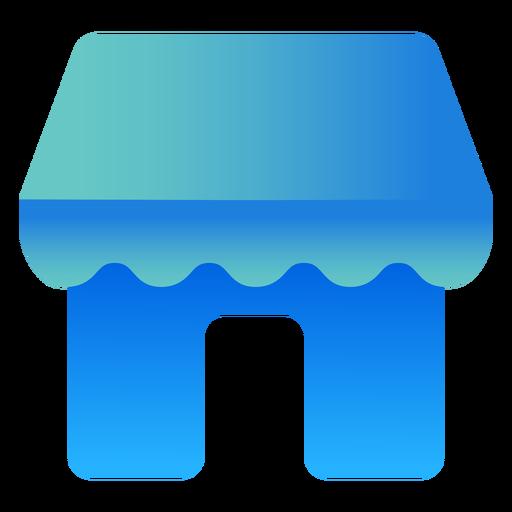 Diseño plano de icono de tienda