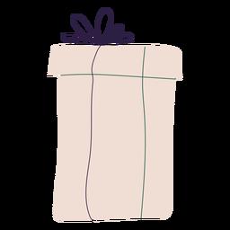Ilustración de caja de regalo de navidad simple