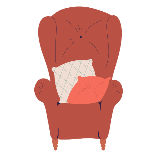 Single body chair illustration Transparent PNG