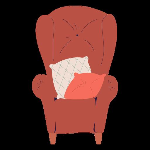 Single body chair illustration
