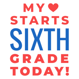 Sixth grade back to school lettering