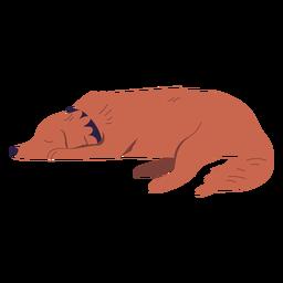 Ilustración de perro tendido soñoliento