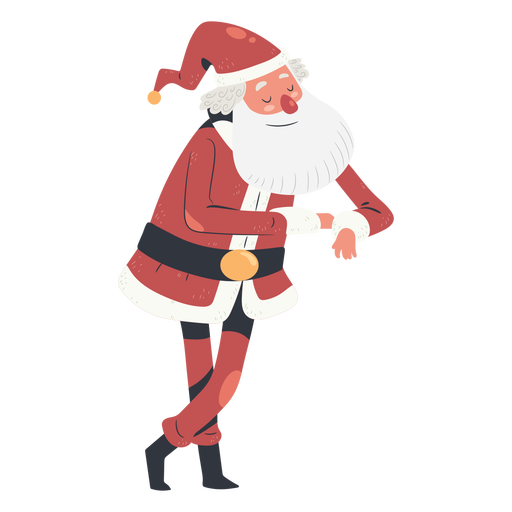 Smiley traditional santa claus illustration