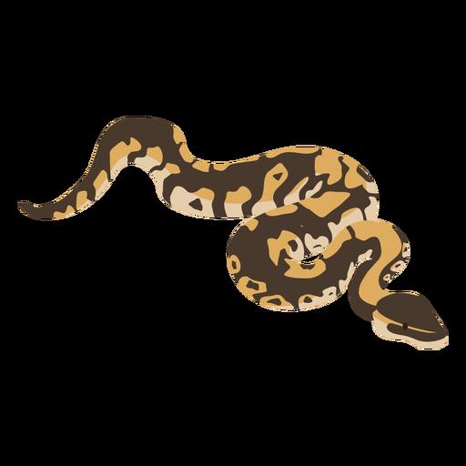 Flaches Deesign der Schlangenotter