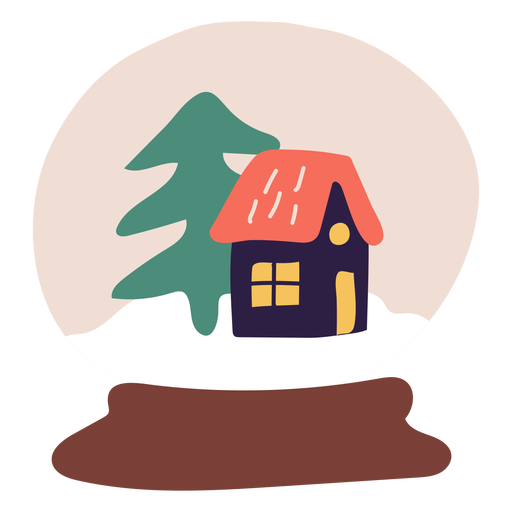 Snow crystal ball illustration