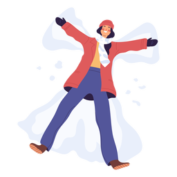 Snow star woman character