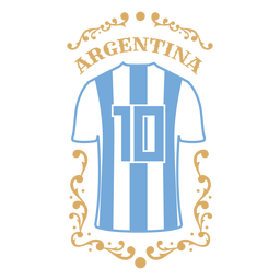 Camiseta de futebol emblema argentina
